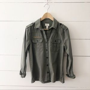 Forever 21 Olive Green Military Utility Jacket